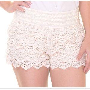 American Rag crochet tiered shorts